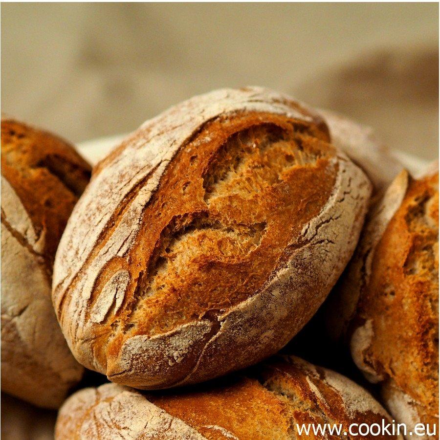 No knead-Brötchen